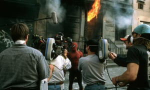 Tobey Maguire as Spider-Man in director Sam Raimi's 2002 film