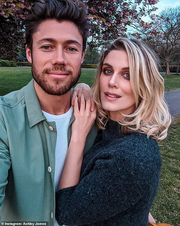 Guessing game: Ashley also revealed that she and her partner, Tom Andrews, have decided on their child's name, but have not announced it to the public yet