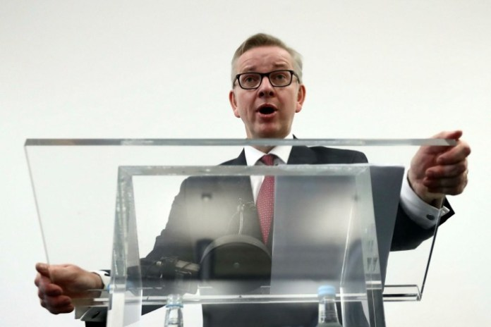 Michael Gove in 2016, launching his own unsuccessful bid to be leader of the Conservative party, a day after he had delivered a blistering attack on Mr Johnson's ability to lead the country