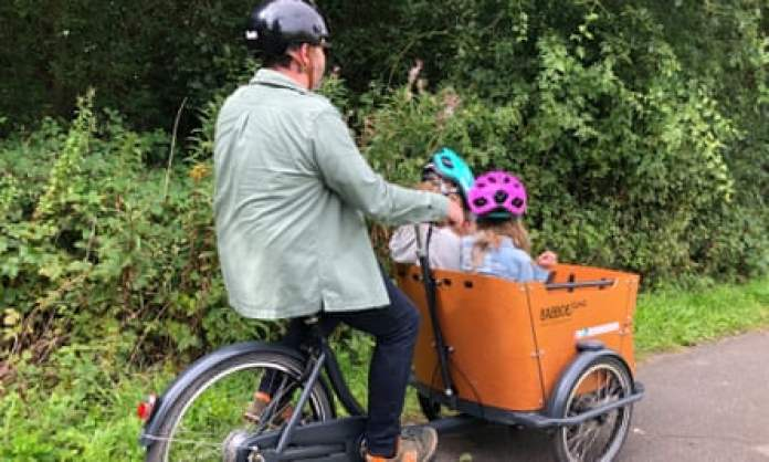 Family cycling in York