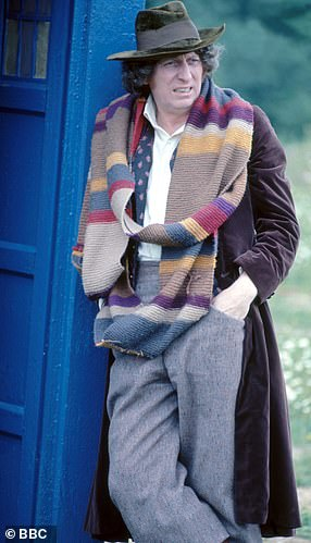 Pictured, Tom Baker as 'the Doctor'