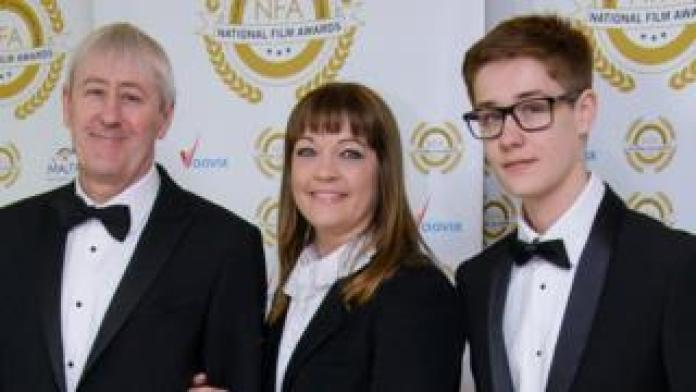 Archie Lyndhurst with father Nicholas Lyndhurst and mother, ballet dancer Lucy Smith