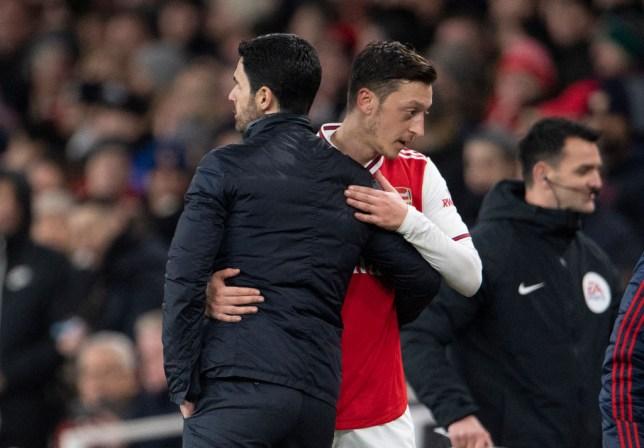 Arsenal boss Mikel Arteta responds to Mesut Ozil statement after Premier League squad snub