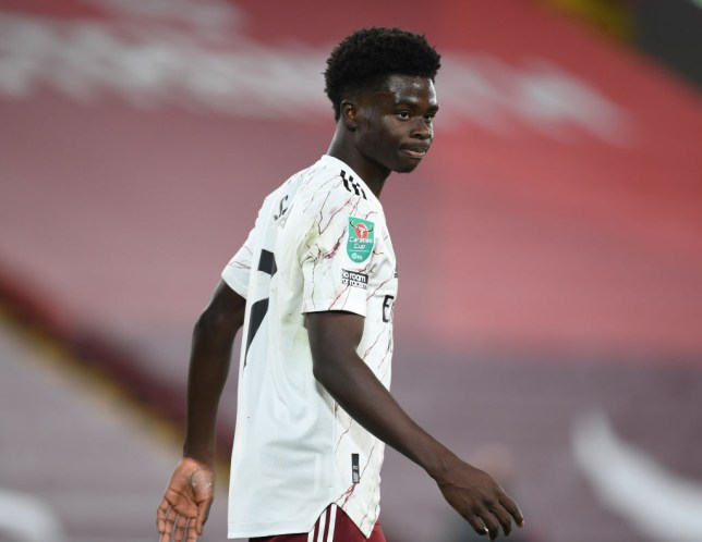 Saka could make his debut for the Three Lions