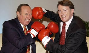 Andrew Neil, left, with Labour's  Peter Mandelson