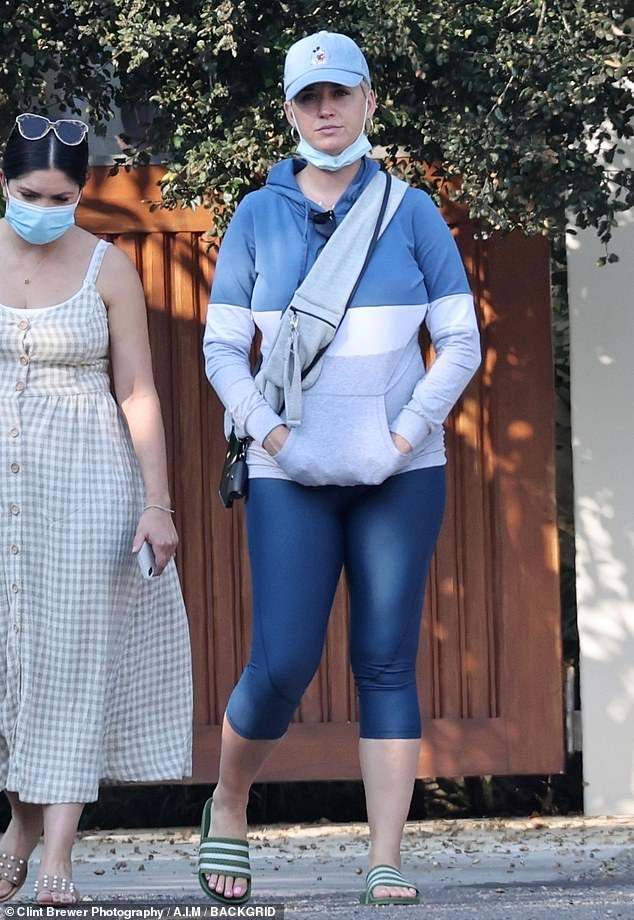 Looking for a new nest: New mom Katy Perry is pictured touring a $4 million property in Santa Barbara over the weekend