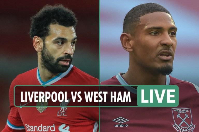 Liverpool vs West Ham LIVE SCORE: Salah levels from penalty spot – stream, TV channel, Premier League latest updates