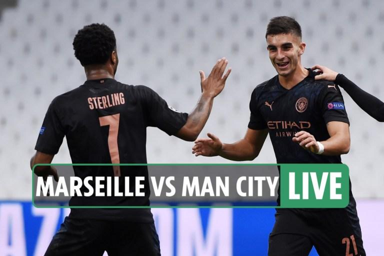 Marseille vs Man City LIVE REACTION: Sterling, Ferran Torres and Gundogan on target for dominant City