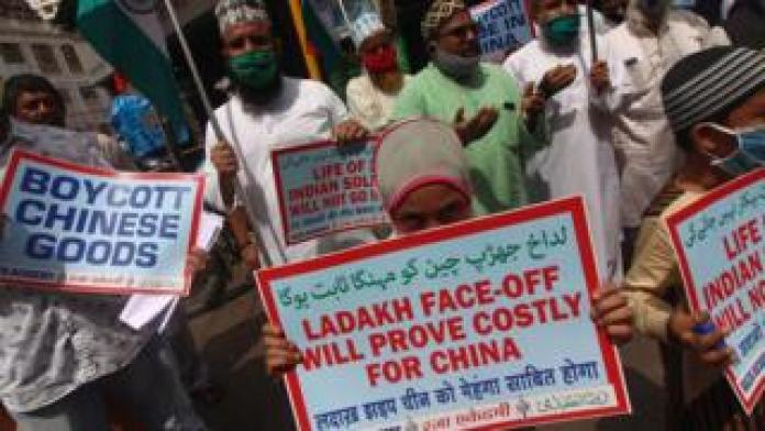 India-China border tension provokes anti-China protests in India