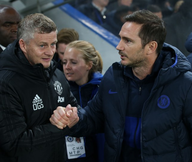 Ole Gunnar Solskjaer and Frank Lampard after Manchester United's Carabao Cup clash with Chelsea