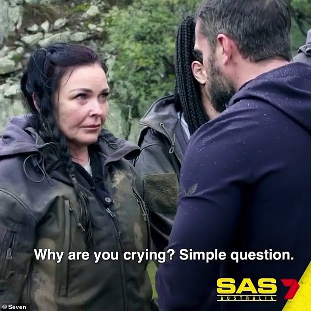 Tears: In a new trailer for Channel Seven's upcoming show SAS Australia, Schapelle Corby (pictured) is seen breaking down in tears during a gruelling challenge