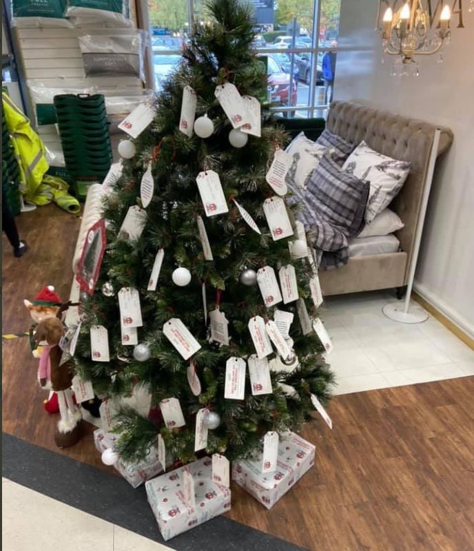 Shoppers praise Dunelm for creating way to buy presents for local people in need