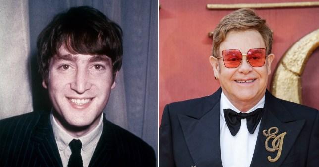 John Lennon and Sir Elton John