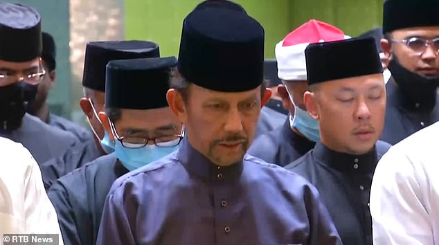 SultanHassanal Bolkiah attends his son's funeral, before announcing seven days of mourning that bans entertainments