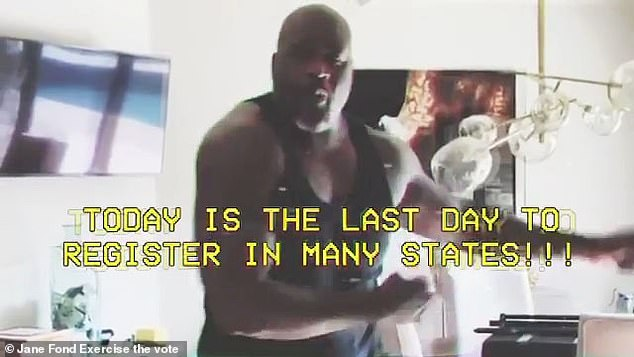 Legend: Shaq also made an appearance to express the importance of voting