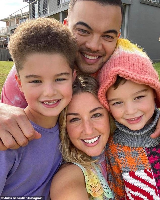 Famous family: Jules and Guy, 38, are proud parents to sons Hudson, eight, and Archer, six (both pictured)