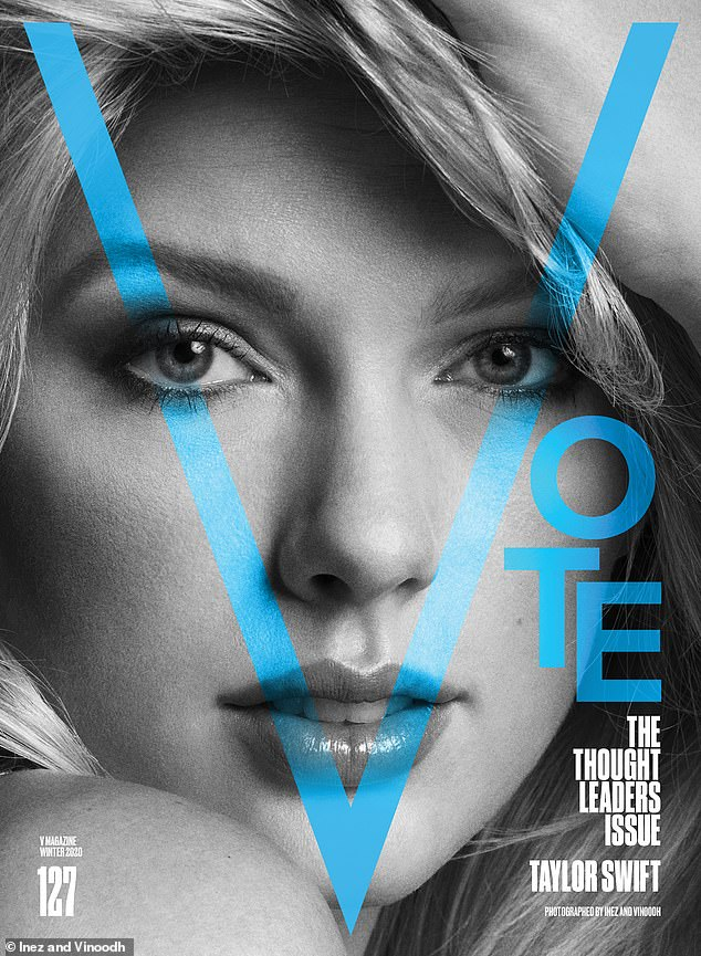 V for vote! Swift shared her thoughts on the future of the country while covering this month's issue of V Magazine, telling people to vote for change