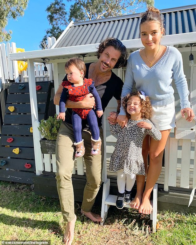 Tribute: On Father's Day, Snezana posted shots of Sam and their kids playing outside the cubby house, alongside a gushing tribute to her husband