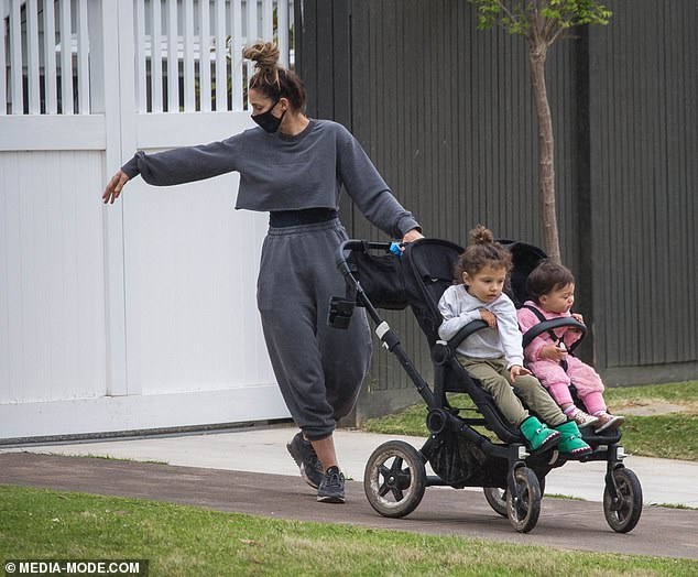 Building delays: A representative told Daily Mail Australia on Thursday the couple had moved to a new place of residence due to building delays on their home near the city