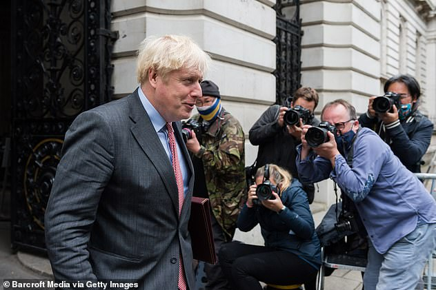 Boris Johnson (pictured last week) and Ursula Von Der Leyen 'took stock' of progress in the fraught negotiations in a call on Saturday night