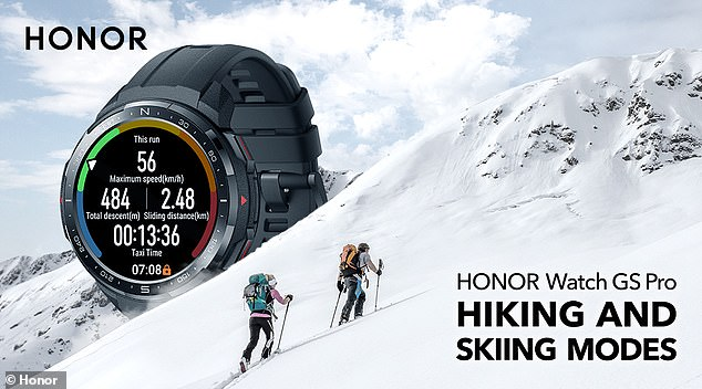 The newly-launched skiing mode is also set to impress as it can automatically track your skiing exercise in real-time and can even track snowboarding and cross-country skiing