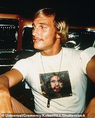 McConaughey seen here as David Wooderson in the stoner classic