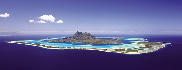 The criteria for a 'superhabitable planet' includes small islands separated by oceans, rather than large continents. This is a view of Bora Bora Lagoon - a 'paradise on Earth'