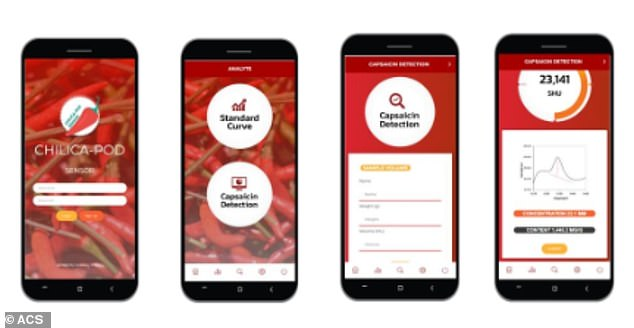 The associated app lets users view chilli heat scores, revealing the level of capsaicin, a chemical that can make your mouth feel like it is on fire