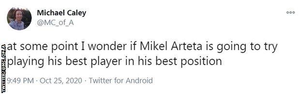 Michael Caley's tweet