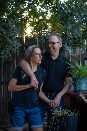 Ann and Bill Whitmire at their home in Phoenix. They fell ill and recovered from Covid-19 earlier this year. Whitmire thinks he will vote entirely for Democrats this year.
