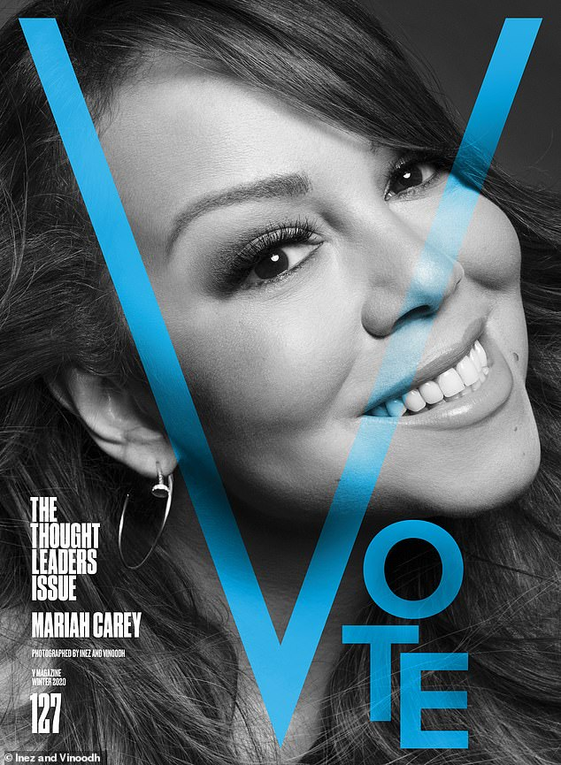 Speak up!Mariah Carey urged readers to make their voices heard, saying: 'Voting is so important because it is one way to show up for ourselves and our communities'