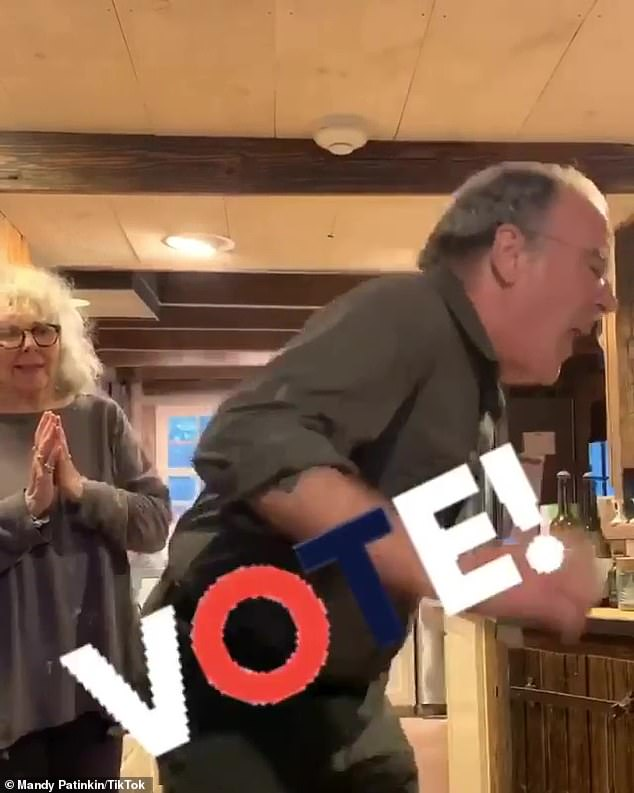 Head to the polls! Patinkin hilariously shook his behind in front of his wife