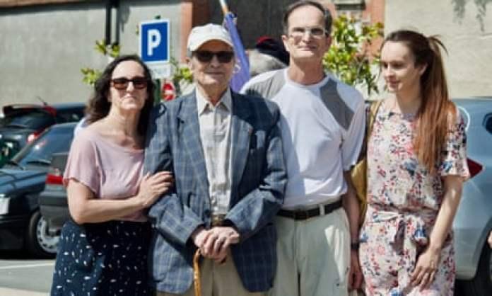 Juan Romero with his children Bernard and Jeannine and his granddaughter Eva in 2017.