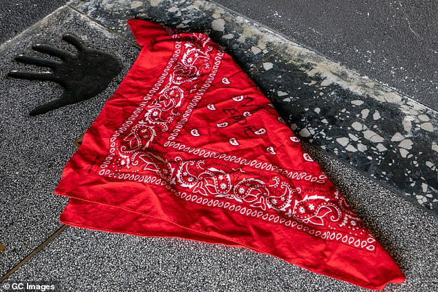 A bandanna autographed by late rock legend Eddie Van Halen was placed on the Hollywood Rock Walk