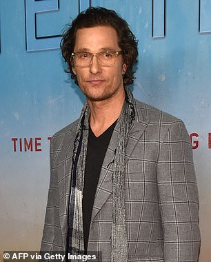Now: McConaughey seen here in 2019