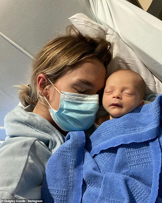 Devoted mom:Goode said that everything has come as 'a total shock to us,' as she's 'currently quarantining with baby Max in the PICU'