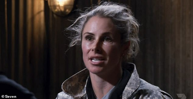 Fury: Candice Warner (pictured) was left enraged after she was grilled about the incident on Monday's episode of SAS Australia