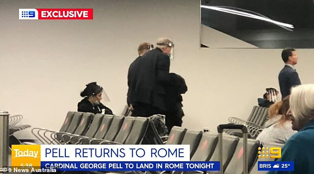 Cardinal George Pell returned to Rome last month after spending more than 400 days in jail