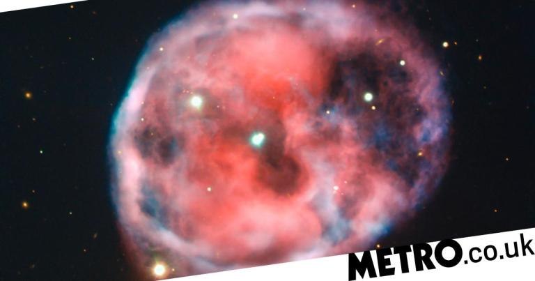 Astronomers post eerie 'Skull Nebula' snap on the eve of Halloween