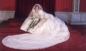 Diana in her wedding dress.