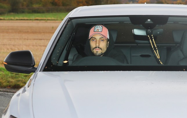 Alex Telles arrived at Manchester United's training ground on Monday