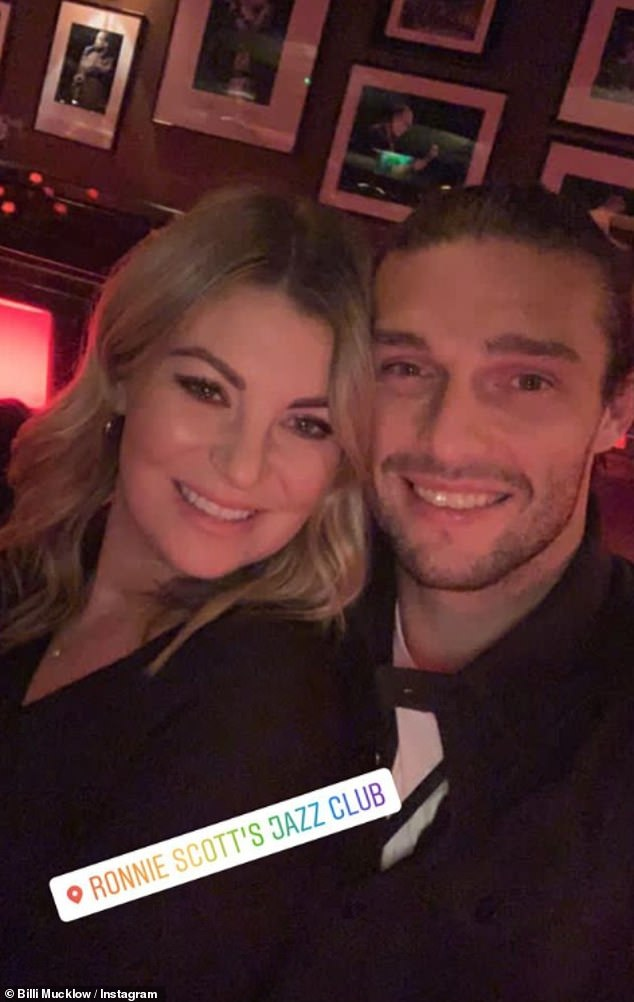 Birthday girl!Billi Mucklow and her fiancé Andy Carroll enjoyed some quality time together on Tuesday as they visited Ronnie Scott's jazz bar in Soho, London, for her birthday lunch