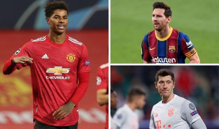 Champions League top scorers 2020/21: Rashford and Jota lead Messi and Lewandowski