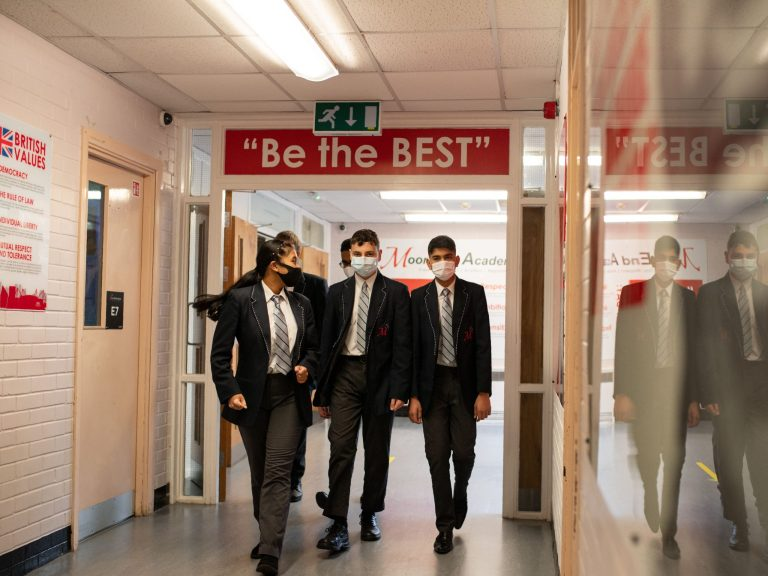 Coronavirus: Face masks become compulsory in secondary school corridors in England under lockdown rules