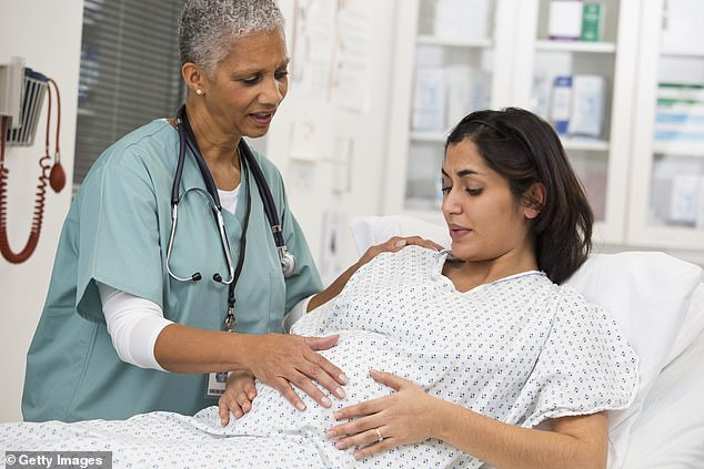 A new study from the University of the Witwatersrand in South Africa found the risk of pregnant women giving birth prematurely or having a stillbirth rose by about 5% per 2F (1C) increase in temperature (file image)