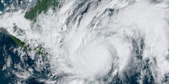 Hurricane Eta roars as a Category 4 storm as it approaches Nicaragua on Tuesday, Nov. 3, 2020.