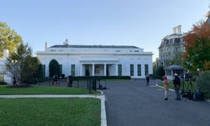 The main entrance to the West Wing of the White House ahead of the 2020 general elections.