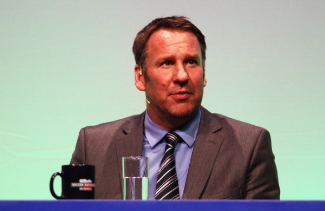 Paul Merson answers questions during Gillette Soccer Saturday Live with Jeff Stelling on March 19, 2012 at the Bournemouth International Centre in Bournemouth, England.