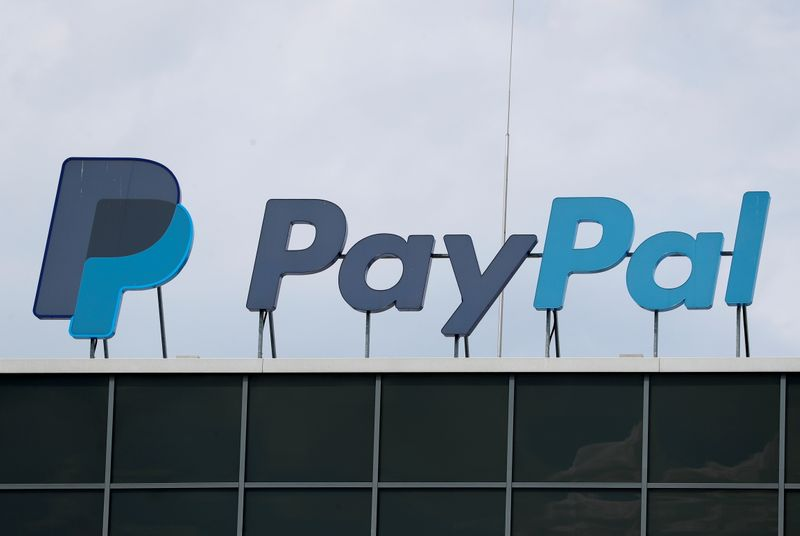 © Reuters. FILE PHOTO: The German headquarters of PayPal is pictured at Europarc Dreilinden business park south of Berlin in Kleinmachnow
