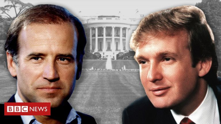 Seven decades of Trump and Biden in pictures